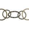 Chain Oval/round 30mm Antique Brass
